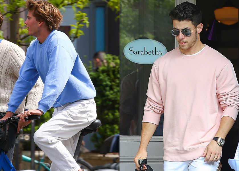楽チンスウェットシャツを淡色に替えたらどうなるのか?