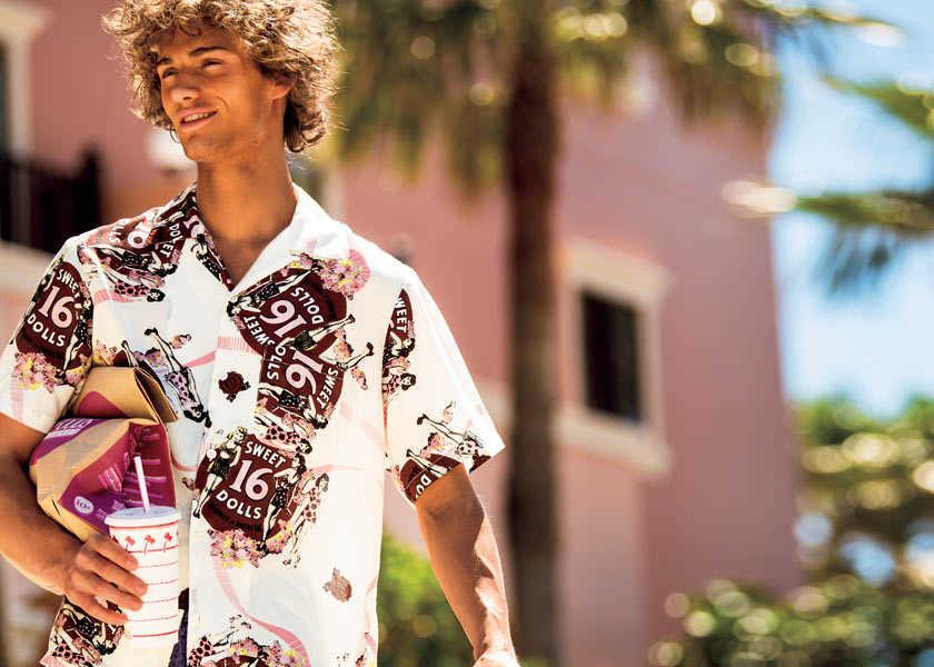 〈ヒステリックグラマー〉でレトロな西海岸スタイルに!夏の大人カジュアルは'70年代風が気分!?