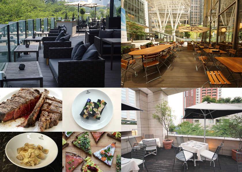 せっかくだから素敵な場所で外食を! 今なら、風通しのいいテラス席はいかが?