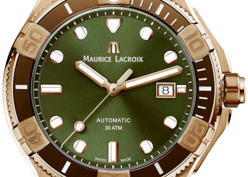 〈モーリス・ラクロア〉の新作は定番アメカジに効く味わいグリーン時計!