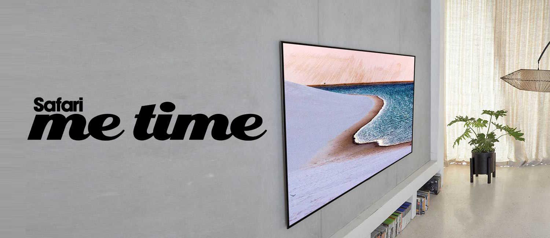 1台で何役もこなすテレビ〈LGエレクトロニクス〉が家にあれば自然とリビングにみんなが集まる。
