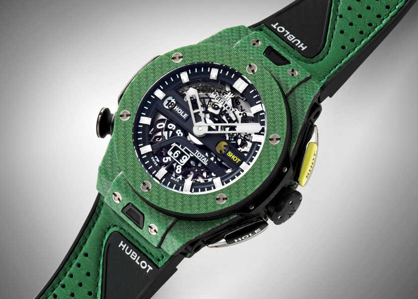 FOCUS ON 今月注目したいモノ・コト〈ウブロ〉ゴルフのスコアが伸び悩んでいるなら腕時計を新調すればいい!?