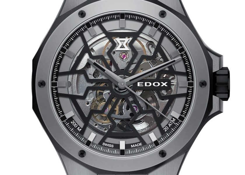 【新作】〈エドックス〉が手掛けると、スケルトン時計も防水性が200m!