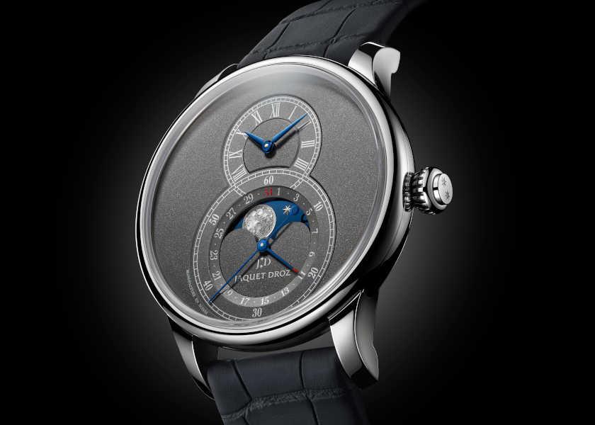 〈ジャケ・ドロー〉の月時計は、アントラサイトカラーが超絶お洒落!
