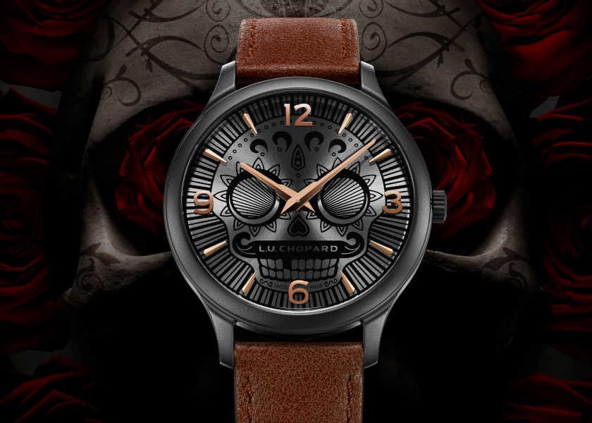 〈ショパール〉の限定時計は文字盤のスカル顔がとってもユニーク!
