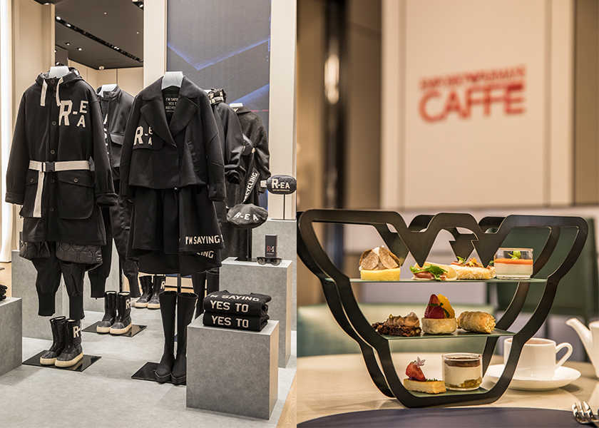 西日本エリア初!〈エンポリオ アルマーニ〉心斎橋パルコ店は、 お洒落デートに使えるカフェ併設!
