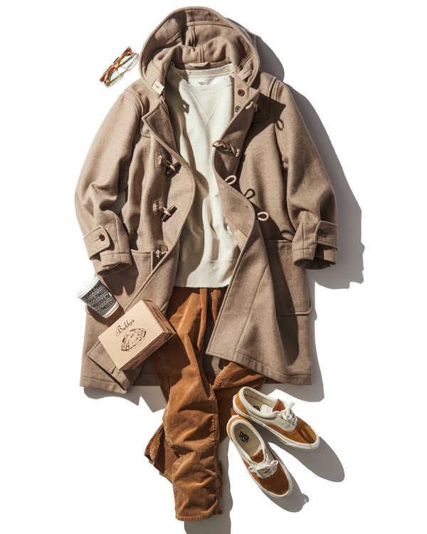 海好き男がダッフルコートを着るなら?