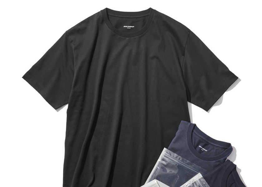 お洒落に役立つアイテム集!〈ジョン スメドレー〉のためのTシャツがある!