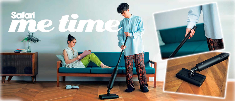 まるでインテリアの一部のように部屋に〈バルミューダ〉が存在。だから、いつでも手軽に掃除ができる。