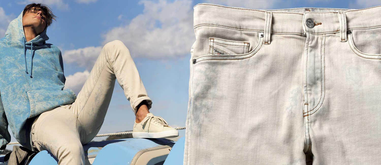 イタリア発〈ディーゼル〉の新作で見つけた!身も心も軽くなる、週末に穿きたいデニム!