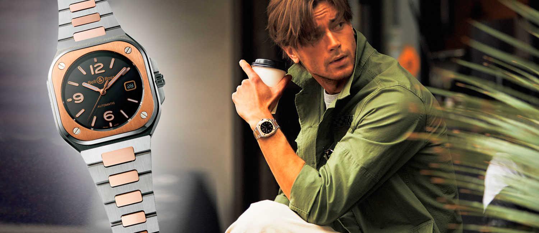 〈ベル&ロス〉の1本が着こなしの決め手になる!大人のアメカジに似合うモダンな金時計!