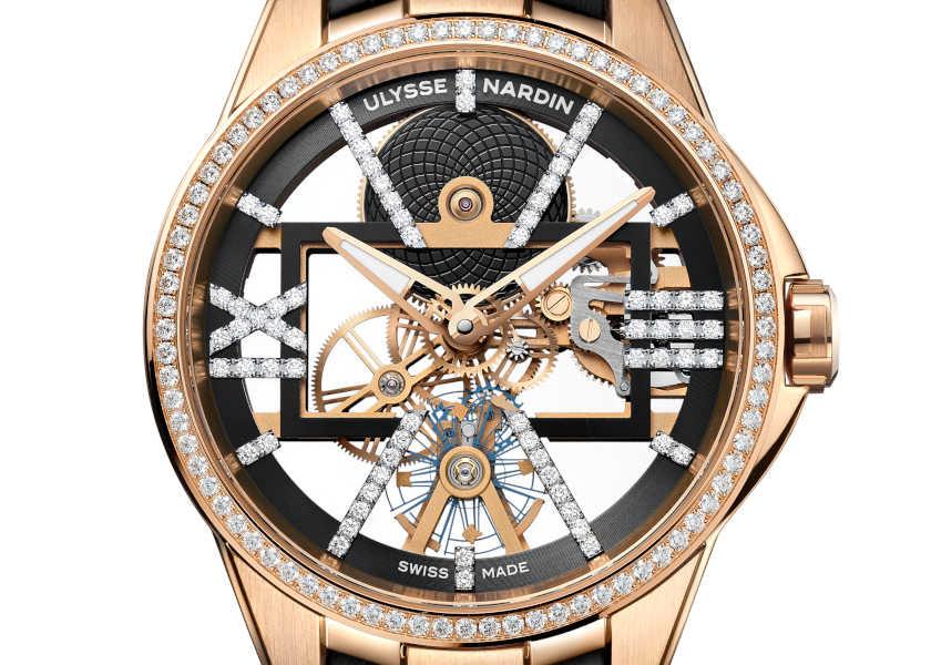 ここ一番で使える! ダイヤの煌めきが違う、〈ユリス・ナルダン〉の贅沢スケルトン!