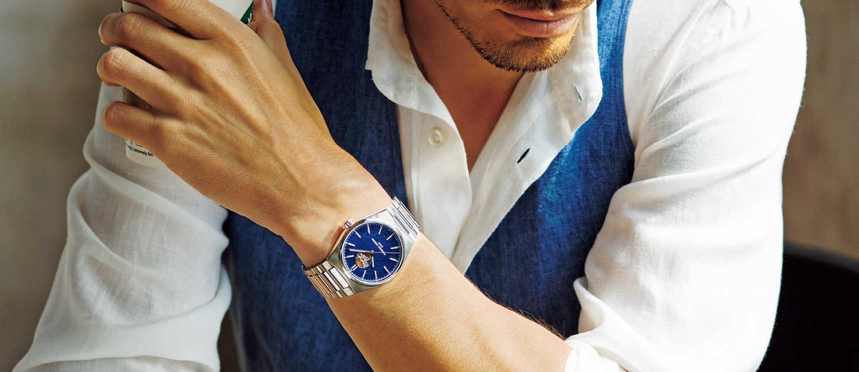 """""""手の届くラグジュアリー""""を謳う〈フレデリック・コンスタント〉。 新時代に頼れる時計はエコな機械式で着替えも上手。"""