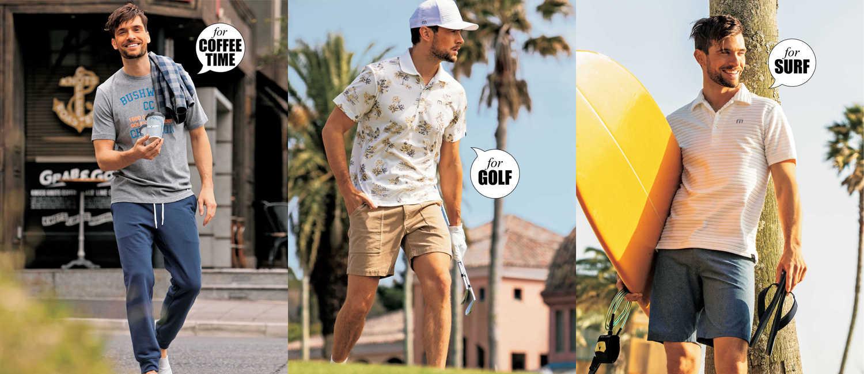 西海岸のカルチャーが息づく〈トラヴィスマシュー〉の新作!海でも街でもゴルフでも着たいアクティブなウエア!