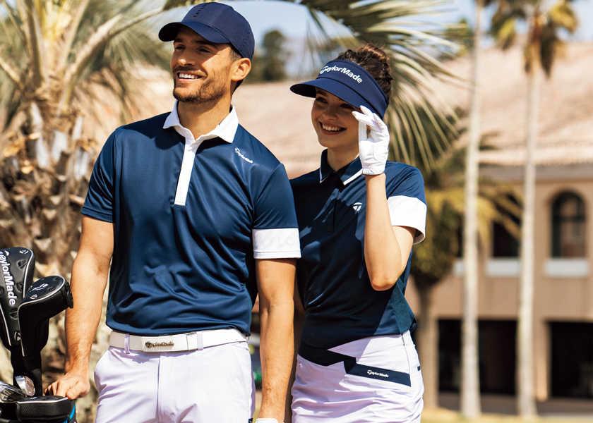 〈テーラーメイドゴルフ〉で涼しくお洒落にプレイ。 大人の夏ゴルフはクール&スタイリッシュ。