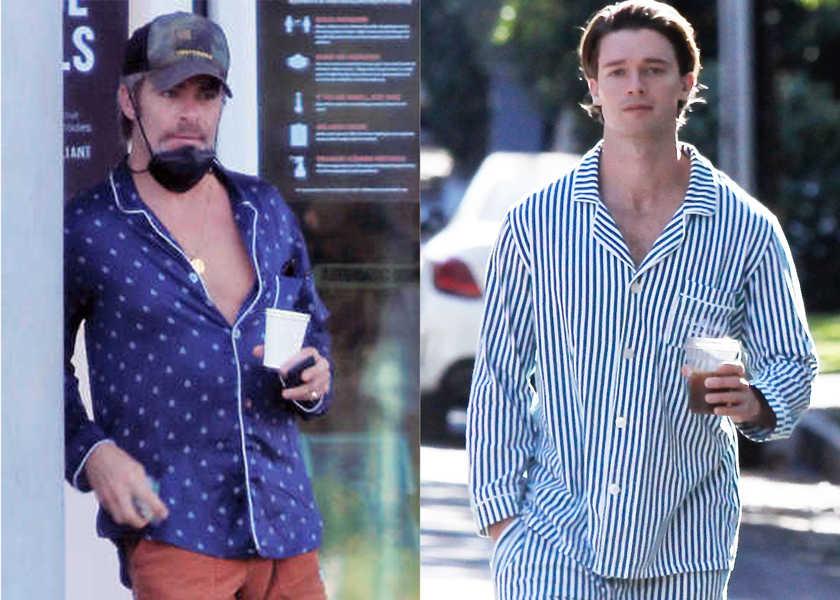 """まさか! 近頃お洒落セレブは """"パジャマシャツ""""を外出使い!?"""