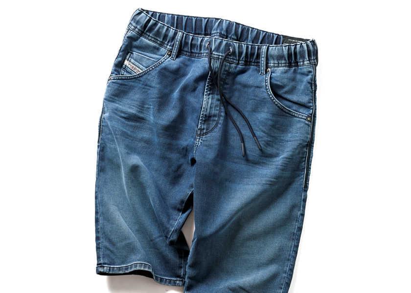 Catch the Trend!見た目はデニムだけど楽ちん&涼しい!  〈ディーゼル〉のショート丈のジョグジーンズ!