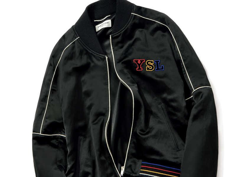 Catch the Wave! [サンローラン/'80sニューウェイブなブルゾン]〈サンローラン〉のブルゾンは、艶感のある素材と洗練された色使いで大人の装いに!