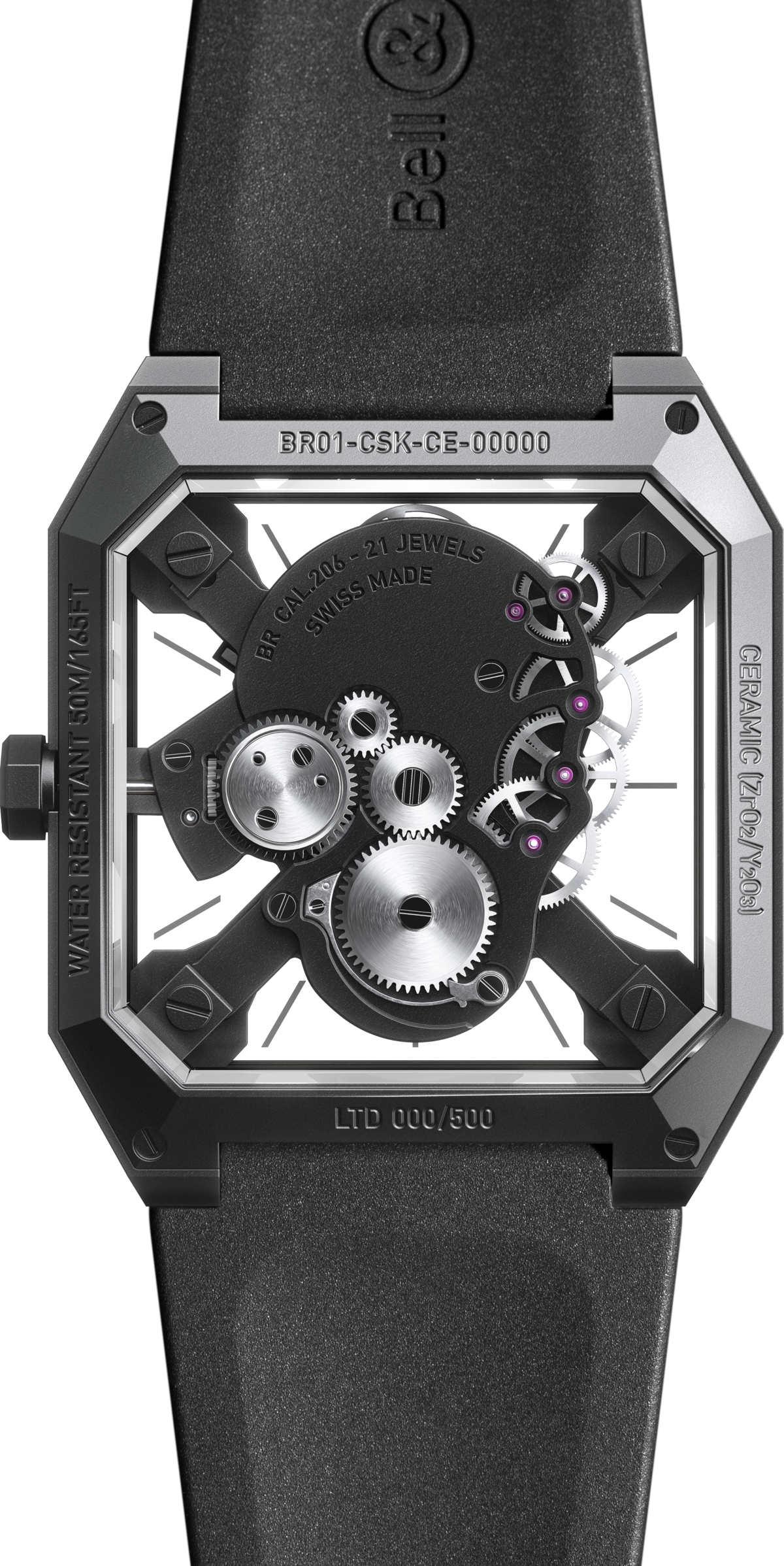 スカル時計のケースバック