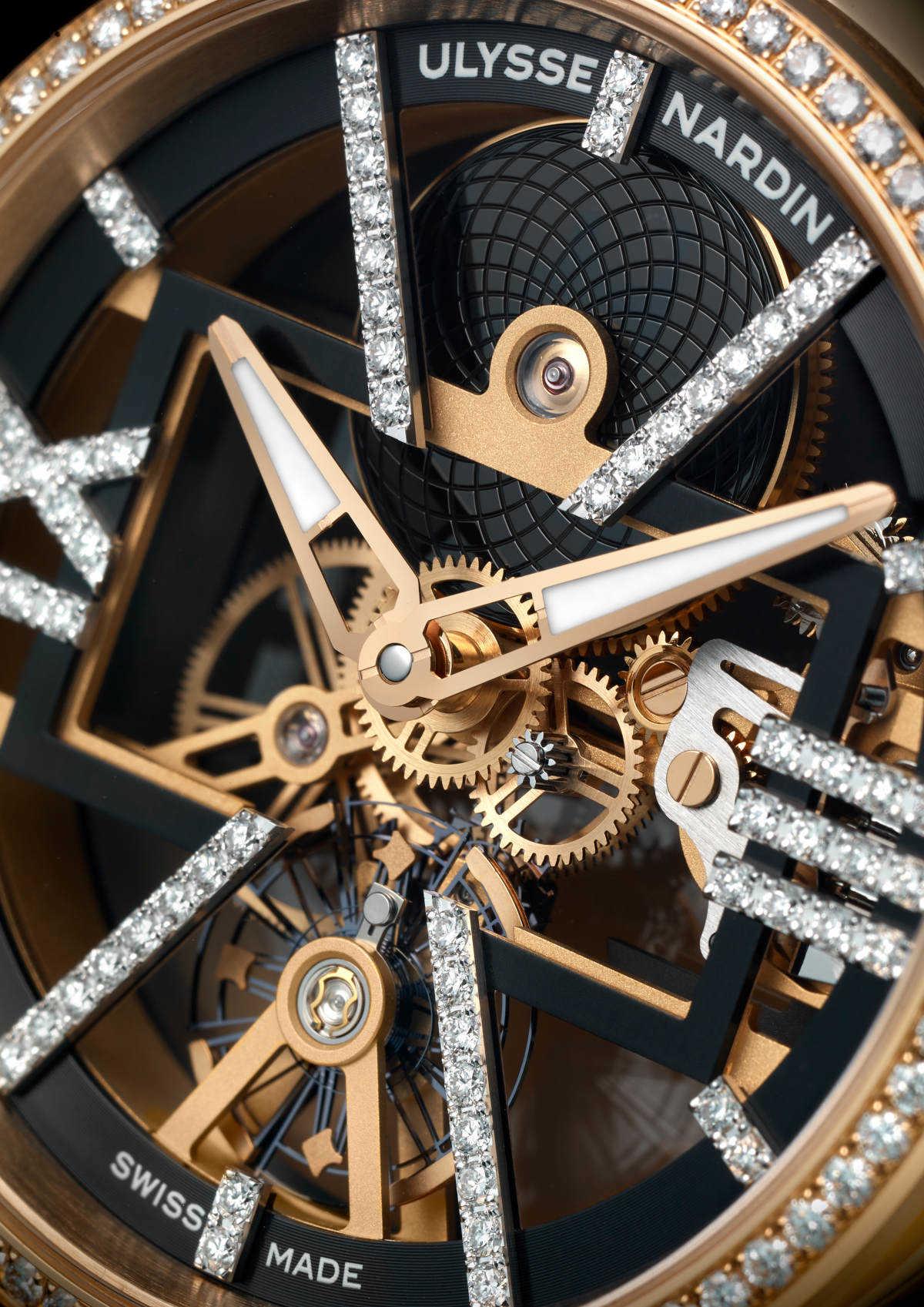 ここ一番で使える! ダイヤの煌めきが違う、 〈ユリス・ナルダン〉の贅沢スケルトン!
