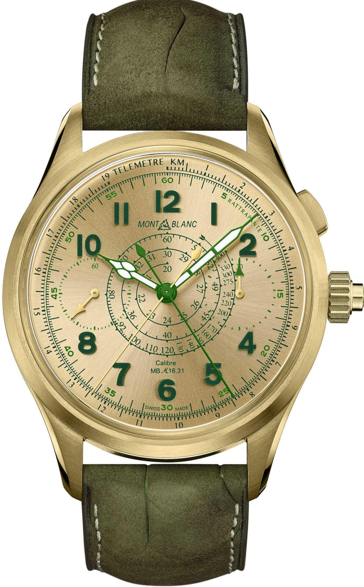 その手があったか! 〈モンブラン〉の絶妙グリーン時計!