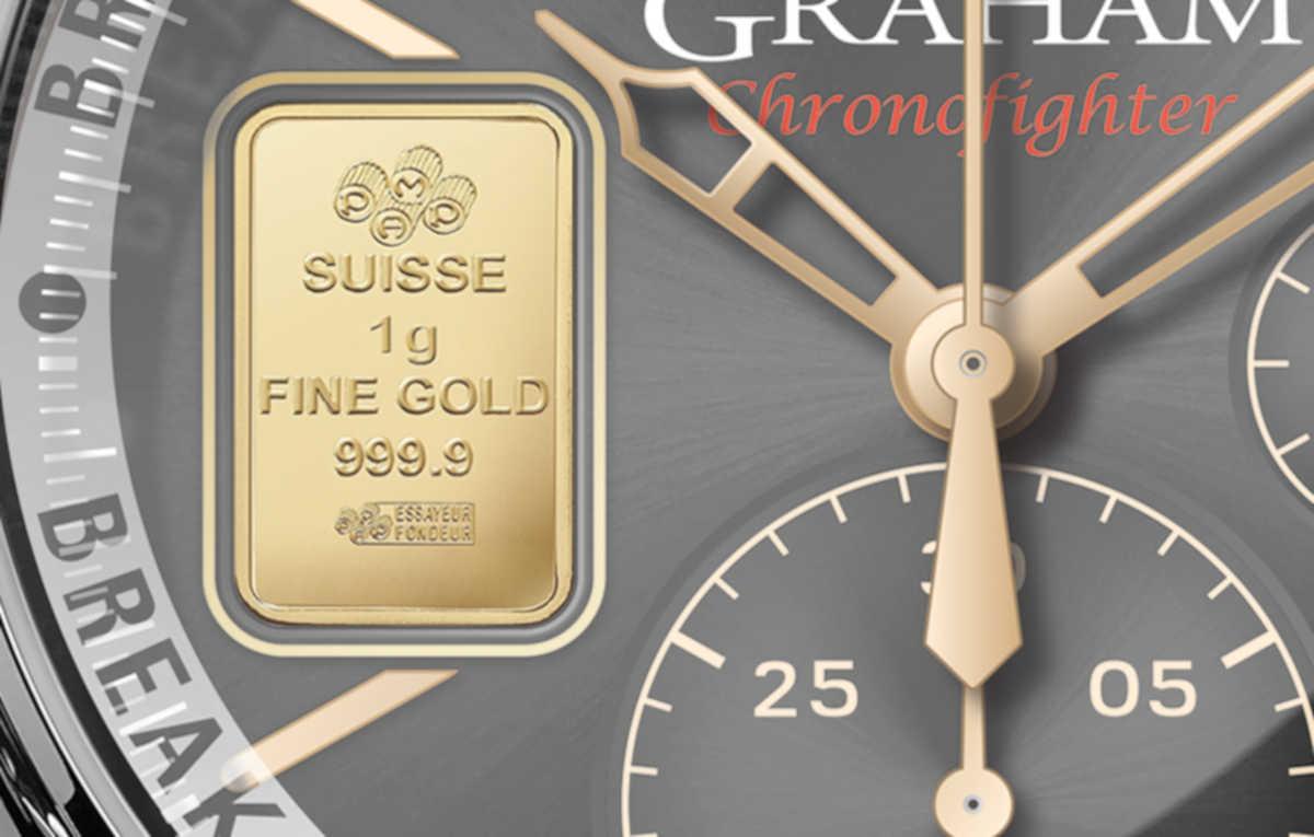 【驚嘆】〈グラハム〉の限定時計は文字盤に金塊あり!