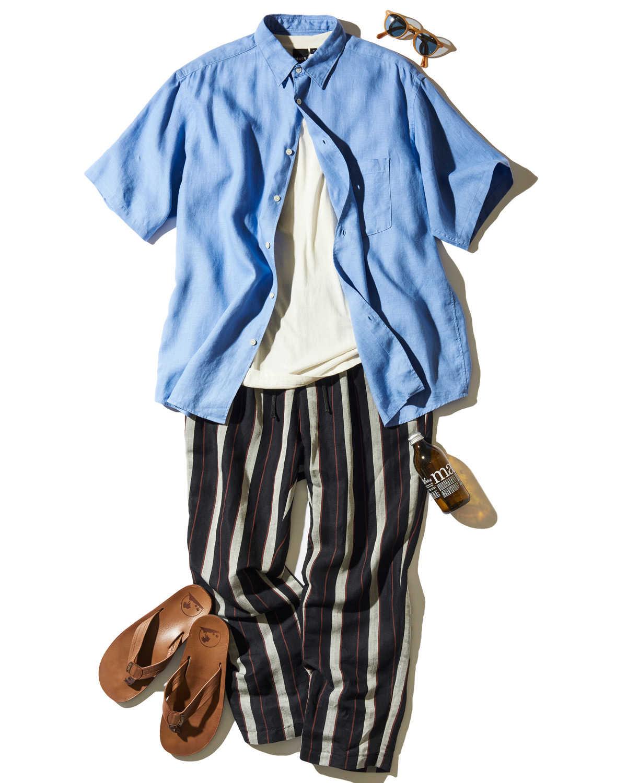 個性出しのストライプパンツを大人らしく着る方法!