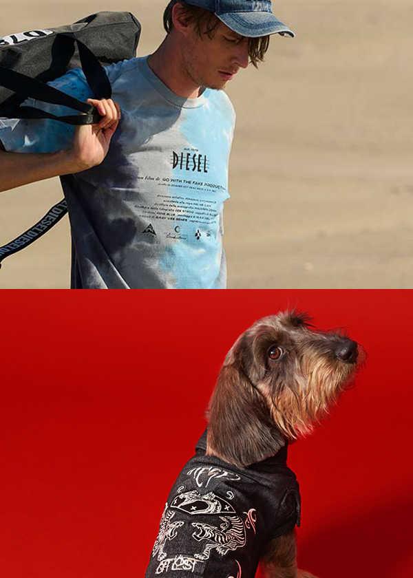 〈ディーゼル〉なら愛犬とおソロのブランドでビーチに繰り出せる!