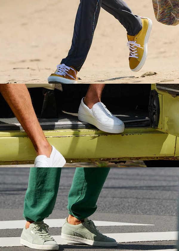 夏の足元はアイキャッチなスニーカーで個性出しを!