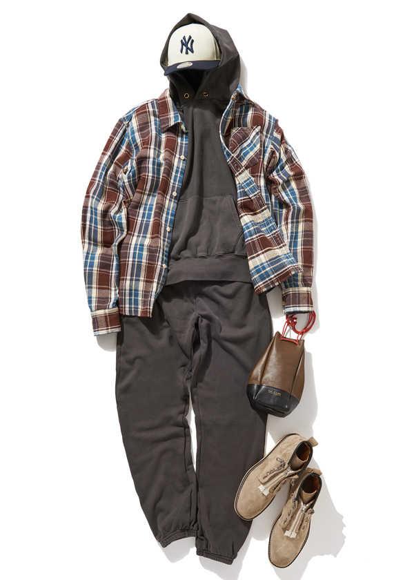 スウェットをスタイリッシュに着るなら、ワントーンコーデで!