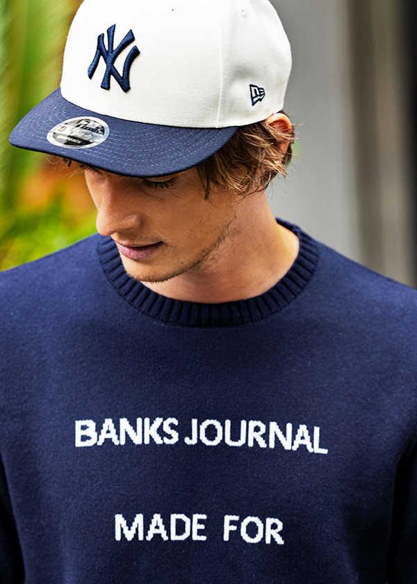 楽ちんで気軽に着るなら〈バンクス ジャーナル〉のコットンニット!