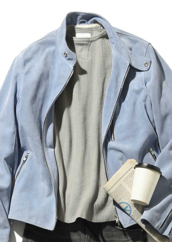 爽やかさが増す! 〈ジェームス・グロース〉のレザージャケット