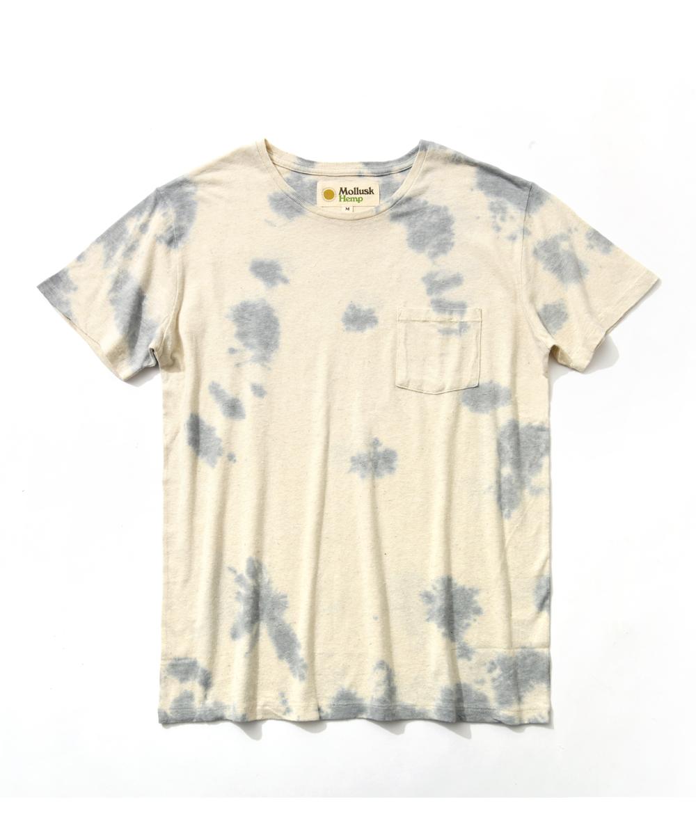 タイダイ染めクルーネックTシャツ