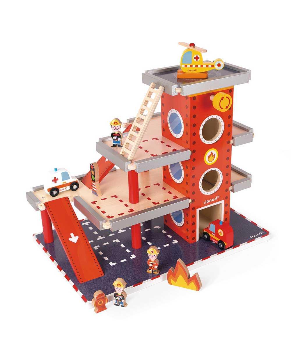ストーリービルダー ファイアーステーション キッズ用おもちゃ