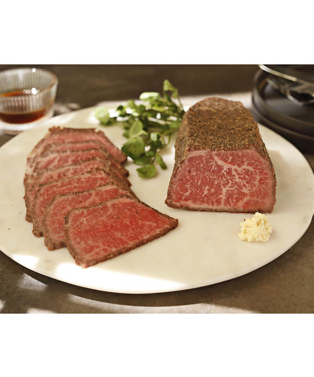 【メーカー直送】黒毛和牛モモローストビーフ500g