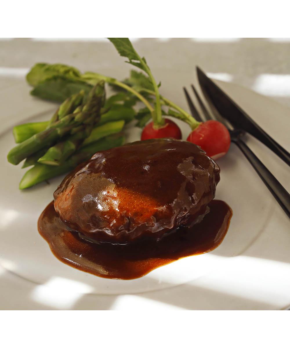 【メーカー直送】黒毛和牛 デミグラスソースハンバーグステーキ6個セット