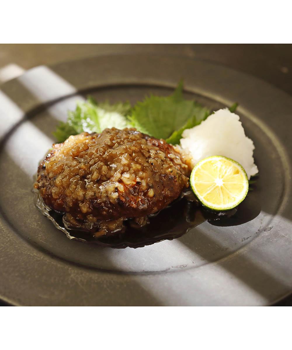 【メーカー直送】黒毛和牛 和風たまねぎソースハンバーグステーキ6個セット