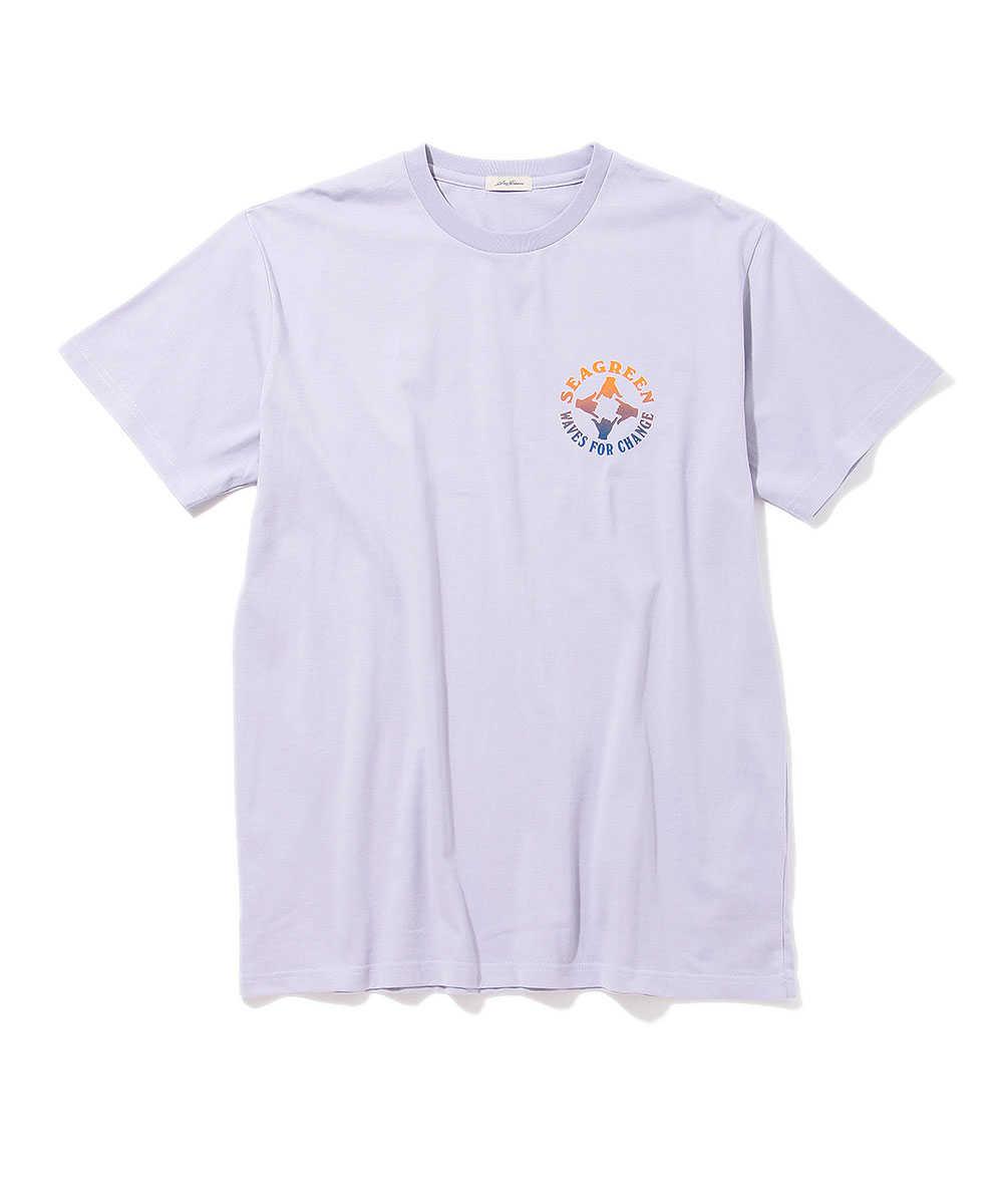 シーグリーン×ウェイブフォーチェンジ クルーネックTシャツ