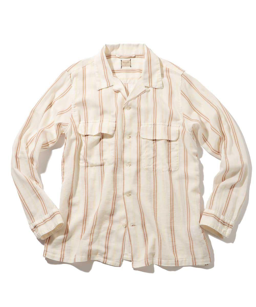 マルチストライプリゾートシャツ