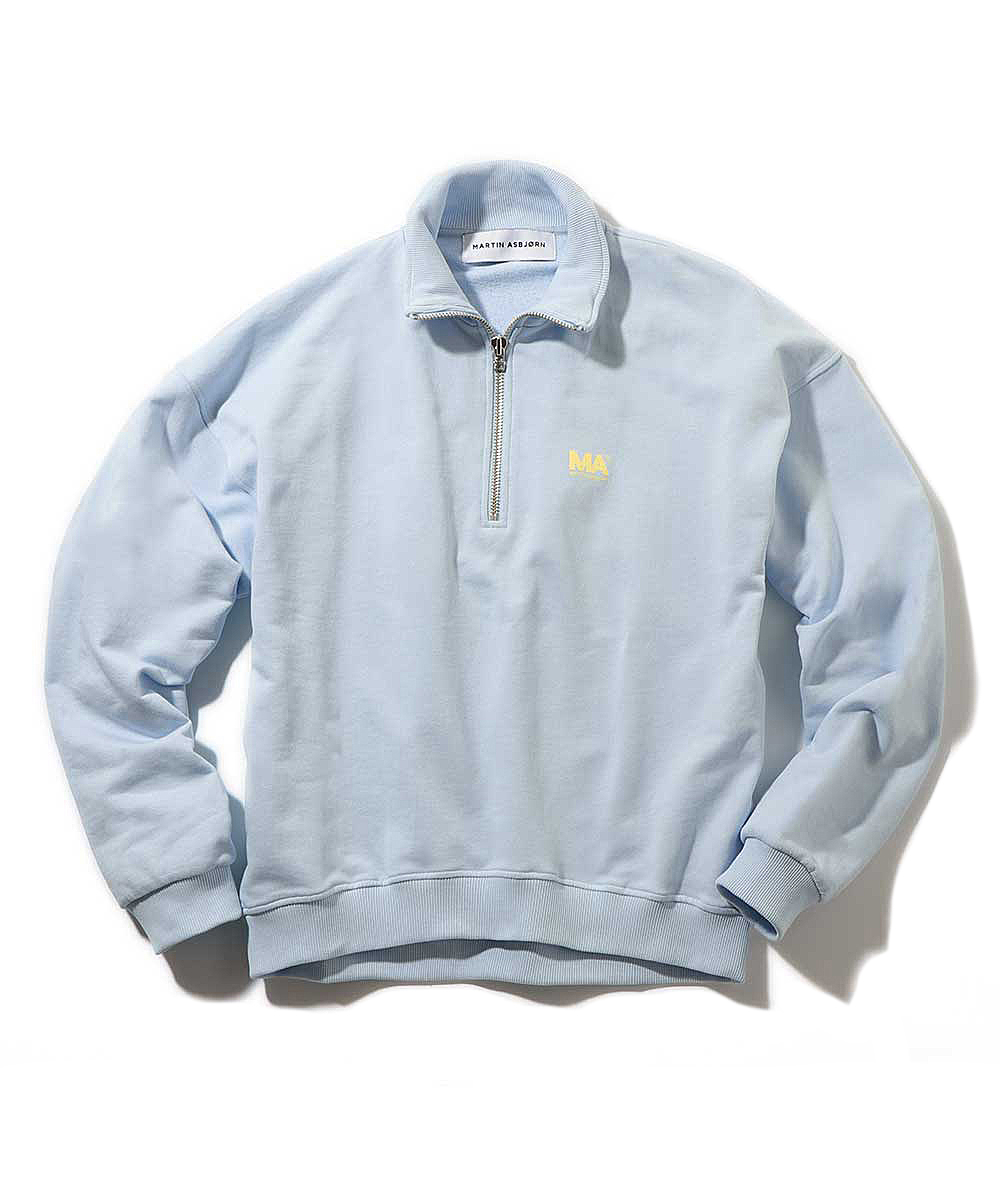 タートルネックジップスウェットシャツ