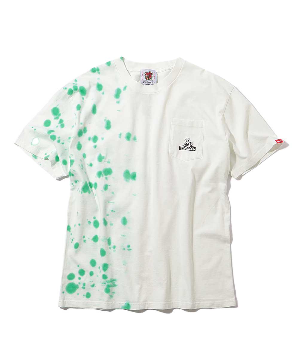 タイダイポケットクルーネックTシャツ