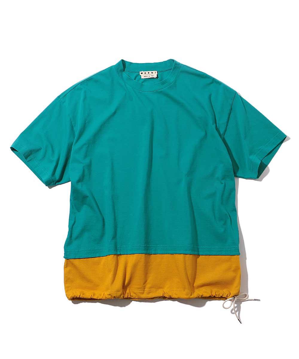 ツートーンクルーネックTシャツ