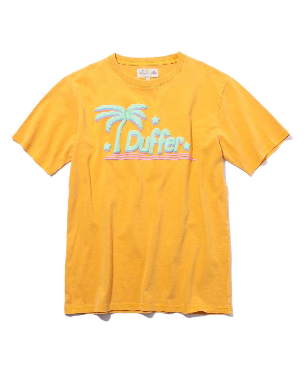 トロピカルプリントクルーネックTシャツ