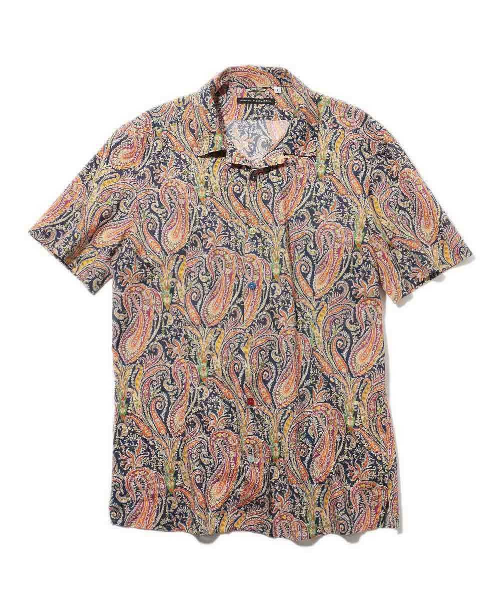 ペイズリー柄半袖シャツ