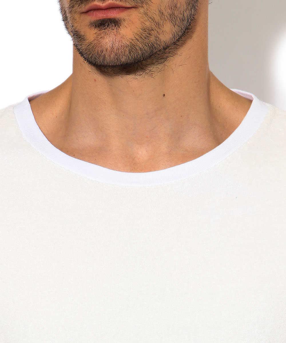 パイルクルーネックTシャツ