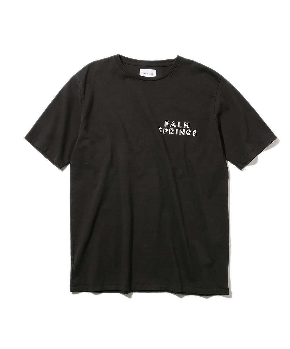 """【別注・限定商品】""""パームスプリングス マップ""""クルーネックTシャツ"""