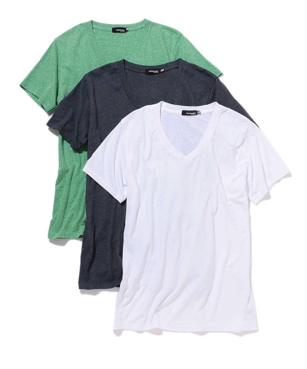 3パック VネックTシャツ