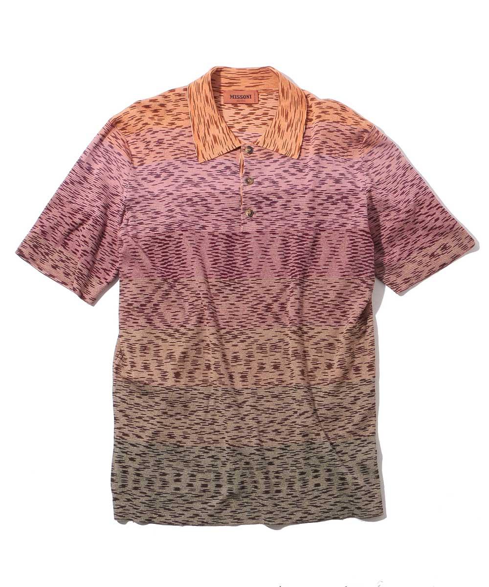総柄ポロシャツ