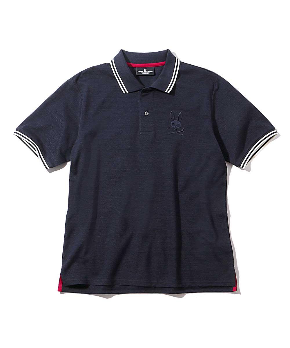 インディゴ風フォギーポロシャツ