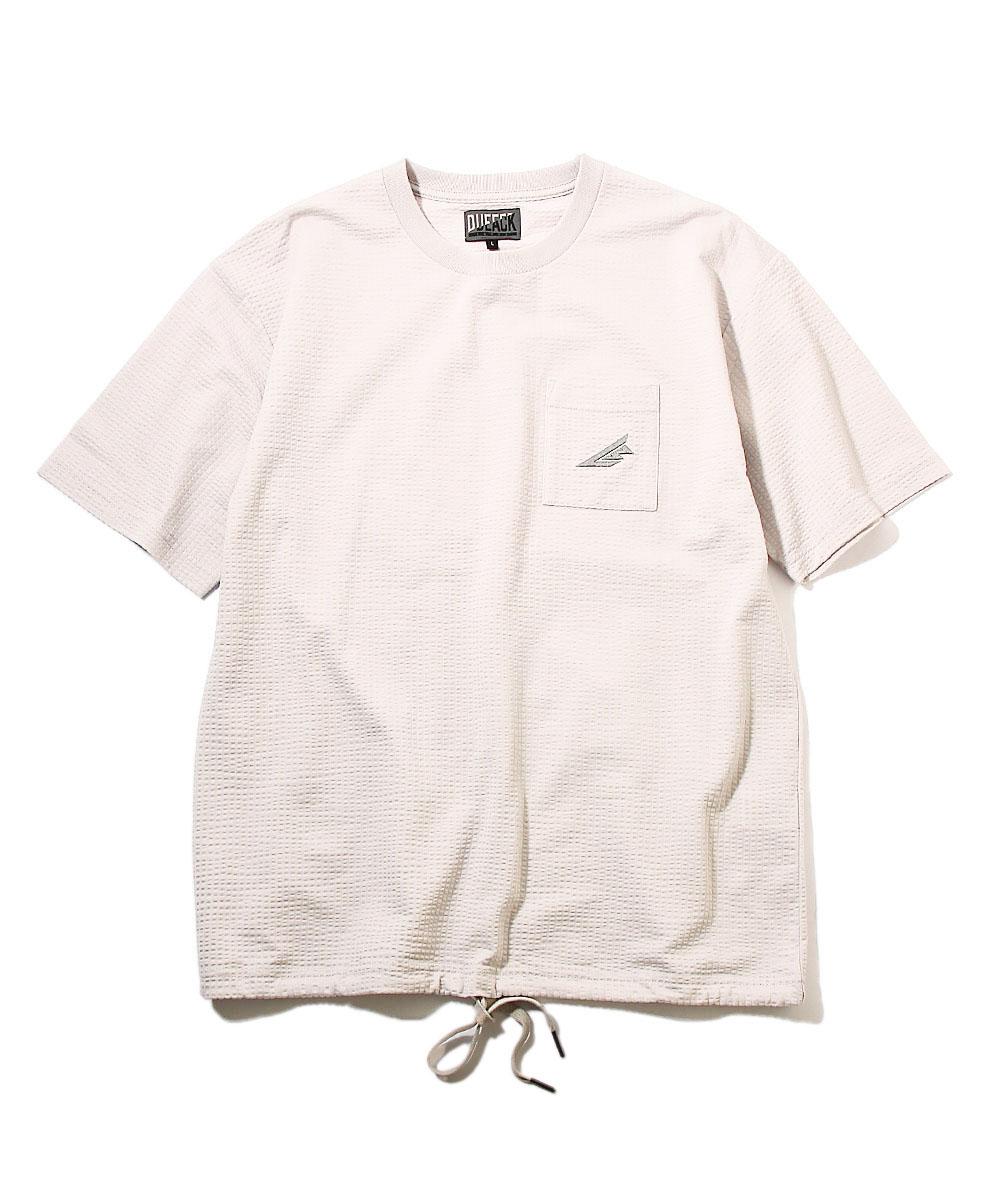 【ブラックレーベル】シアサッカークルーネックTシャツ